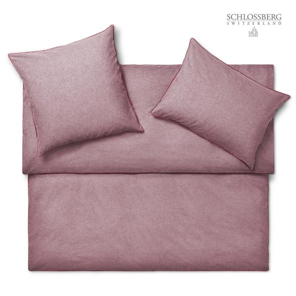 Schlossberg Bettwäsche Flanell rouge