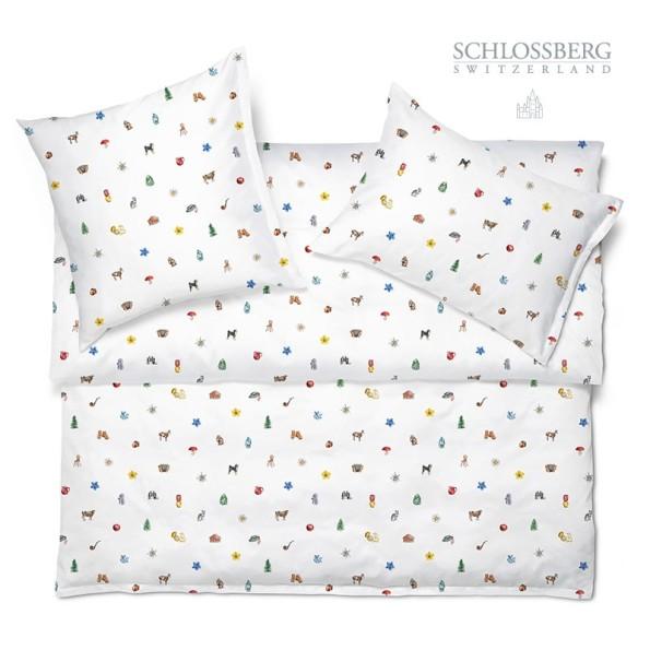 Schlossberg Bettwäsche Satin ALOIS blanc