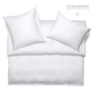 Schlossberg Bettwäsche PUNTINO blanc - Bettwäsche Satin Exquisit Jacquard